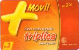 TARJETA TELEFONICA DE PANAMA (PREPAGO). TRIPLICA (006) - Panamá