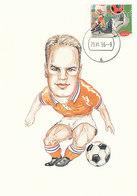 D33965 CARTE MAXIMUM CARD FD 1996 NETHERLANDS - DUTCH SOCCER PLAYER FRANK DE BOER EUROPEAN CHAMPIONSHIP CP ORIGINAL - UEFA European Championship