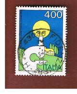 ITALIA REPUBBLICA  - SASS. 1619  -      1983  LOTTA CONTRO IL CANCRO       -      USATO - 6. 1946-.. República