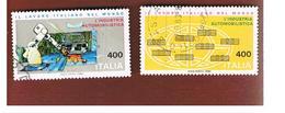 ITALIA REPUBBLICA  - UNIF. 1625.1626 -      1983  LAVORO ITALIANO INDUSTRIA AUTOMOBILISTICA        -      USATO - 6. 1946-.. República