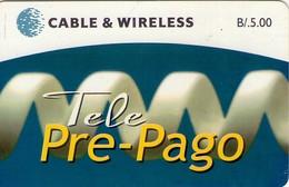 TARJETA TELEFONICA DE PANAMA (PREPAGO). TELE PRE-PAGO (004) DIFERENTE TONO DE COLOR - Panamá