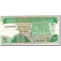 Billet, Mauritius, 10 Rupees, 1985, KM:35b, TTB - Maurice