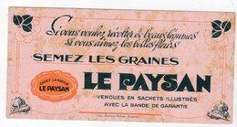 Mai18     81836.    Buvard  Graines Le Paysans - Agriculture