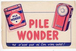 Mai18     81829.    Buvard    Pile Wonder - Accumulators