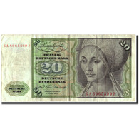 Billet, République Fédérale Allemande, 20 Deutsche Mark, 1970, 1970-01-02 - 20 Deutsche Mark