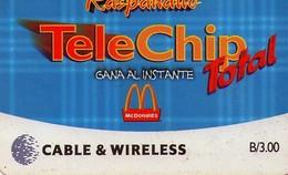 TARJETA TELEFONICA DE PANAMA (PREPAGO). (016) B/3,00 MCDONALDS - Panamá