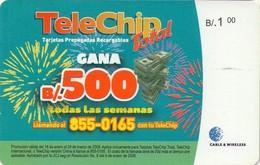 TARJETA TELEFONICA DE PANAMA (PREPAGO). TELECHIP TOTAL, GANA 500B (013) - Panama