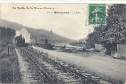 ARDENNES - 08 - MONTHERME - Le Port - Voie Ferrée Et Train - Gares - Avec Trains