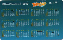TARJETA TELEFONICA DE PANAMA (PREPAGO). CALENDARIO (018) - Panamá