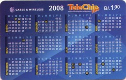 TARJETA TELEFONICA DE PANAMA (PREPAGO). CALENDARIO (019) - Panamá