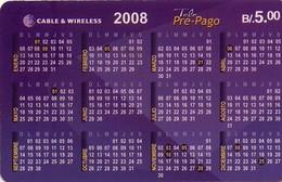 TARJETA TELEFONICA DE PANAMA (PREPAGO). CALENDARIO (020) - Panamá