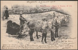 Types De Russie 102 - Troika, 1904 - Scherer, Nabholz & Co U/B Postcard - Russia