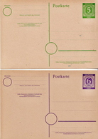 Germany 5 Mint Postal Stationery Cardsn ( Ganzsache) From 1946 - American,British And Russian Zone