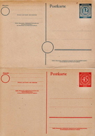 Germany 2 Mint Postal Stationery Cards ( Ganzsache) From 1946 - American,British And Russian Zone