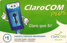TARJETA TELEFONICA DE PANAMA (PREPAGO). CLAROCOM PLUS, CLARO QUE SÍ (026) - Panamá