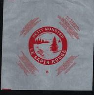 """Etiquette Fromage """"feuille D'emballage NEUVE"""" Petit  Munster Le Sapin Rouge Union Laitiere Vittelloise Bulgnéville  68 - Cheese"""