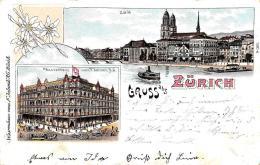 [DC11937] CPA - SVIZZERA - ZURICH - GRUSS AUS ZURICH - Viaggiata - Old Postcard - ZH Zurich