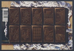 France Rep. Française 2009 Mi 4686 /5 Klb / Sheet ** Histoire Du Chocolat / History Of Chocolate / Geschichte Schokolade - Levensmiddelen