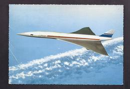 CPSM AVION CIVIL à REACTION - CONCORDE - TB TIMBRE + TB TAMPONS PREMIER VOL 1969 - Aviones