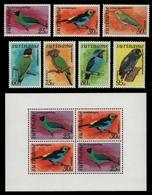 Surinam 1977 - Mi-Nr. 764-770 & Block 18 ** - MNH - Vögel / Birds - Surinam