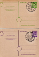 Germany 2 Cancelled Postal Stationery Card ( Ganzsache) From 1946 - American,British And Russian Zone