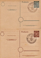 Germany 2 Cancelled Postal Stationery Card ( Ganzsache) From 1947 - American,British And Russian Zone