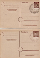 Germany 2 Cancelled Postal Stationery Card ( Ganzsache) From 1947 - Amerikaanse, Britse-en Russische Zone
