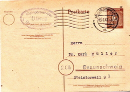 Germany Used Postal Stationery Card ( Ganzsache) From 1947 - American,British And Russian Zone