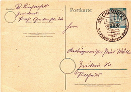 Germany Used Postal Stationery Card ( Ganzsache) From 1947 - Amerikaanse, Britse-en Russische Zone