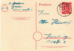Germany Used Postal Stationery Card ( Ganzsache) From 1946 - Amerikaanse, Britse-en Russische Zone