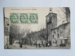 C.P.A. : 84 SAINTE-CECILE LES VIGNES : Cours Du Nord Et L'Horloge, Animé, Timbres En 1905 - France
