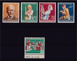 1957 1958 GERMANIA Germany  2 Serie BENEFICENZA  CHARITY (135 + 168/71) MNH** - [7] Federal Republic