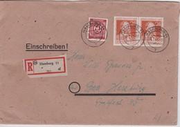 ALLEMAGNE ZONE AAS  194 LETTRERECOMMAANDEE DE BERLIN AVEC CACHET ARRIVEE BAD HARZBURG - Zone AAS