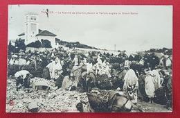 Tanger - Le Marché De Charbon Devant Le Temple Anglais Ou Grand Socco - 3 Scans - Tanger