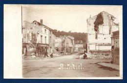 55. Saint-Mihiel. Carte-Photo. Ruines 1914-18. Soldats Allemands. Comptoir Du Pont. Coiffeur-Parfumeur - Saint Mihiel