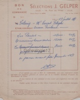 59 2844 LILLE NORD - CINEMA - 19451 Films Selections J. GELPER Rue Du Priez à POKOJSKI - Merchandising