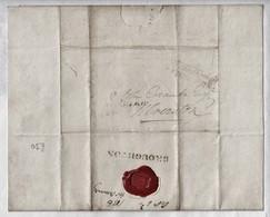 "1836 Letter From ""John Ormandy, Thwaites (?)"" To ""John Crank, Ulverston""  With Good 'Broughton' Postmark.  Ref 0516, - Storia Postale"