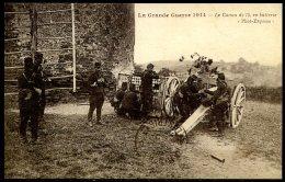 CP    Canon De 75 En Batterie - Weltkrieg 1914-18