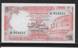 Sri Lanka - 5 Rupees - Pick N°91 - NEUF - Sri Lanka