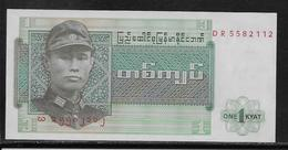 Birmanie - 1 Kyat - Pick N°56 - NEUF - Banconote