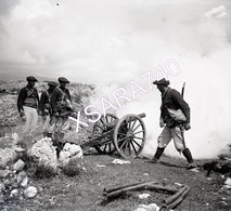 Briançonnais Queyras Exercices De Tir Chasseurs Alpins Vers 1895 Plaque De Verre 9 X 8 - Glass Slides