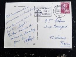 LETTRE LUXEMBOURG LUXEMBURG AVEC YT 664 GRAND DUC JEAN - FLAMME DIABETE MEDECINE - MULTIVUES POUPEE - Lettres & Documents