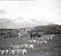 Briançonnais Queyras Halte De Chasseurs Alpins Vers 1895 Plaque De Verre 9 X 8 - Glass Slides