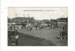 Cpa Courses De LA CHARTRE SUR LE LOIR Jokeys Au Pesage Chevaux Course Hippique 11 Bouveret Masson Ed - France
