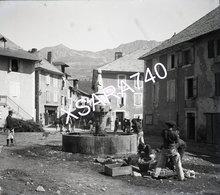 Chorges Chasseurs Alpins La Place Vers 1895 Plaque De Verre 9 X 8 - Glass Slides