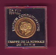 FRAPPE MONNAIE DE PARIS EDITION COMMEMO OR PUR 999/1000 KENNEDY JONN F- ROBERT F  AIGLE UNITED STATES OF AMERICA - USA