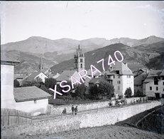 Barcelonnette Chasseurs Alpins Vers 1895 Plaque De Verre 9 X 8 - Glass Slides