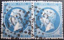 R1752/420 - NAPOLEON III PAIRE N°22 - GC 3103 : REIMS (Marne) - 1862 Napoleon III