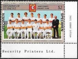 Grenadine/Grenadines: Specimen, Kent County Cricket Club - Cricket