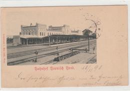 BOSANSKI BROD KOLODVOR RAILWAY  BAHNHOF 1898 K.U.K. MILIT.POST  POSTCARD - Bosnie-Herzegovine